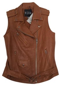 VEDA Brown Leather Jacket