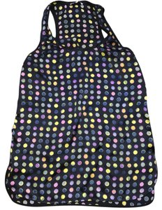 ADAM Top Navy with colorful potka dots