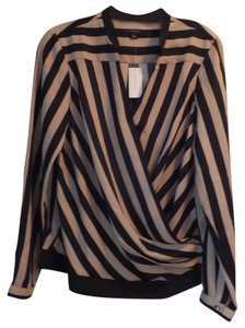 Ann Taylor Top Black/Tan
