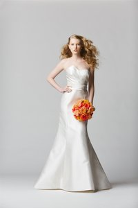 Watters Wtoo By Watters 12815 Strapless Asymmetrical Pleated Bridal Gown Wedding Dress