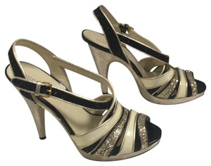 Miu Miu Black/white/silver Platforms