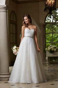 Watters Wtoo By Watters 14262 Strapless Tulle Bridal Gown Wedding Dress