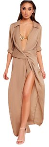 Taupe Maxi Dress by Missguided