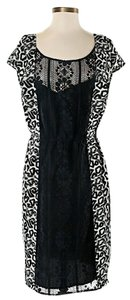 Tracy Reese Silk Lace Color-blocking Shift Sheath Dress