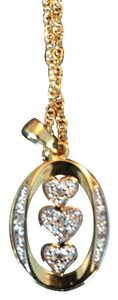 Franklin Mint Daughter Love, Triple heart, special reversible necklace