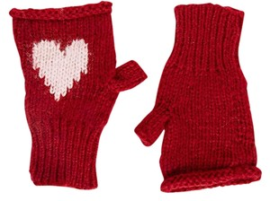 Wooden Ships Wooden Ships New Intarsia Fingerless Mittens Hearts