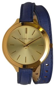 Michael Kors NEW WOMENS MICHAEL KORS (MK2286) SLIM RUNWAY DOUBLE WRAP LEATHER WATCH