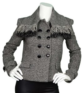 Balenciaga Tweed Wool Draped Jacket