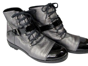Chanel Laced Silver black/Silver grey Boots