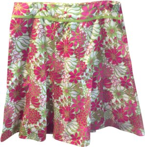 Multiples Skirt Pink Green and White