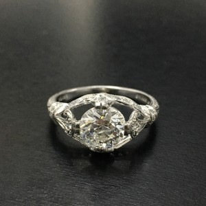 Glorious Art Deco 1.37 Carat Diamond Engagement Ring
