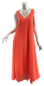 Red Maxi Dress by Indies Breathable A Line