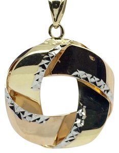 Other 14K Tri-Color Gold Diamond Cut New Style Pendant