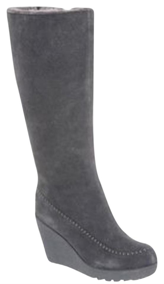 09bfd714c530 Bearpaw Charcoal Brighton Wedge Boots Booties Size US 8 Regular (M ...