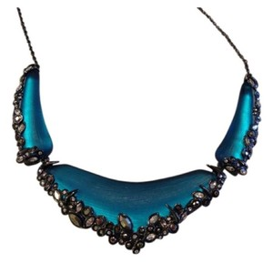 Alexis Bittar Turquoise Lucite Necklace