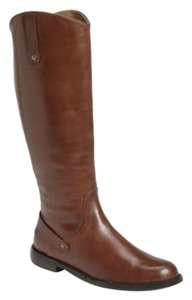 Halogen Leather Equestrian Knee High Brown Boots