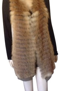 Dana Stein real fox fronted vest Sweater