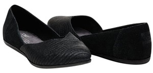 TOMS 11 New Suede Black Flats