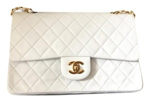 Chanel 2.55 Double Flap Lambskin Leather Shoulder Bag