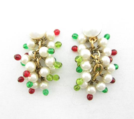 Chanel Vintage '80s Masterpiece Pearl and Glass Bead Cluster Earrings RARE