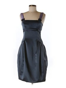 Vera Wang Sateen Tulip Dress