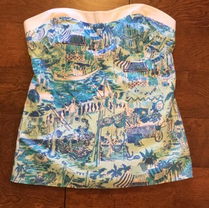 Lilly Pulitzer Top Fresh Catch Toile