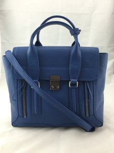 3.1 Phillip Lim Pashli Medium Leather Shark Satchel in Cerulean