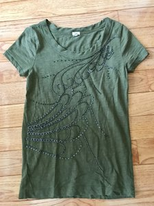 J.Crew Beaded T Shirt Army green
