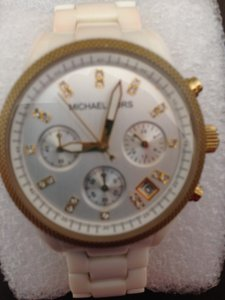 Michael Kors Michael Kors multi-function watch with white acetate adjustable band