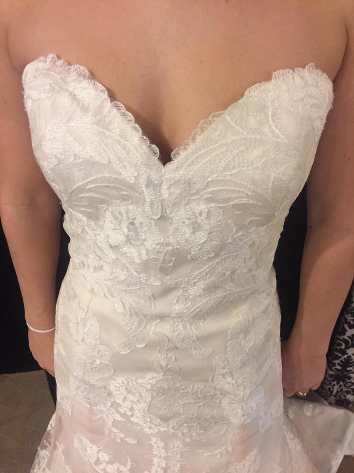 Wtoo Oatmeal Lace Christy Modest Wedding Dress Size 12 L 78 Off Retail