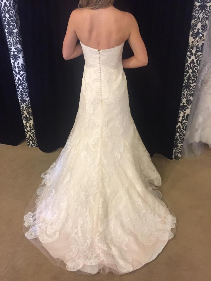 Wtoo Oatmeal Lace Christy Modest Wedding Dress Size 12 L 50 Off Retail