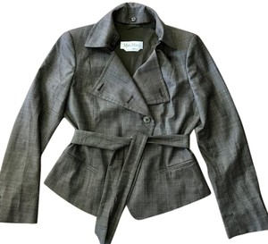 Max Mara Wool Asymmetric Size 10 Motorcycle Jacket
