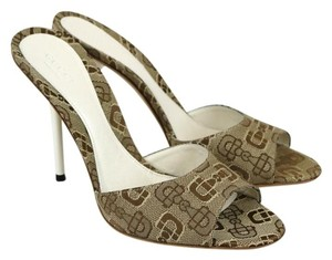 Gucci Horsebit 317049 Beige/White Sandals