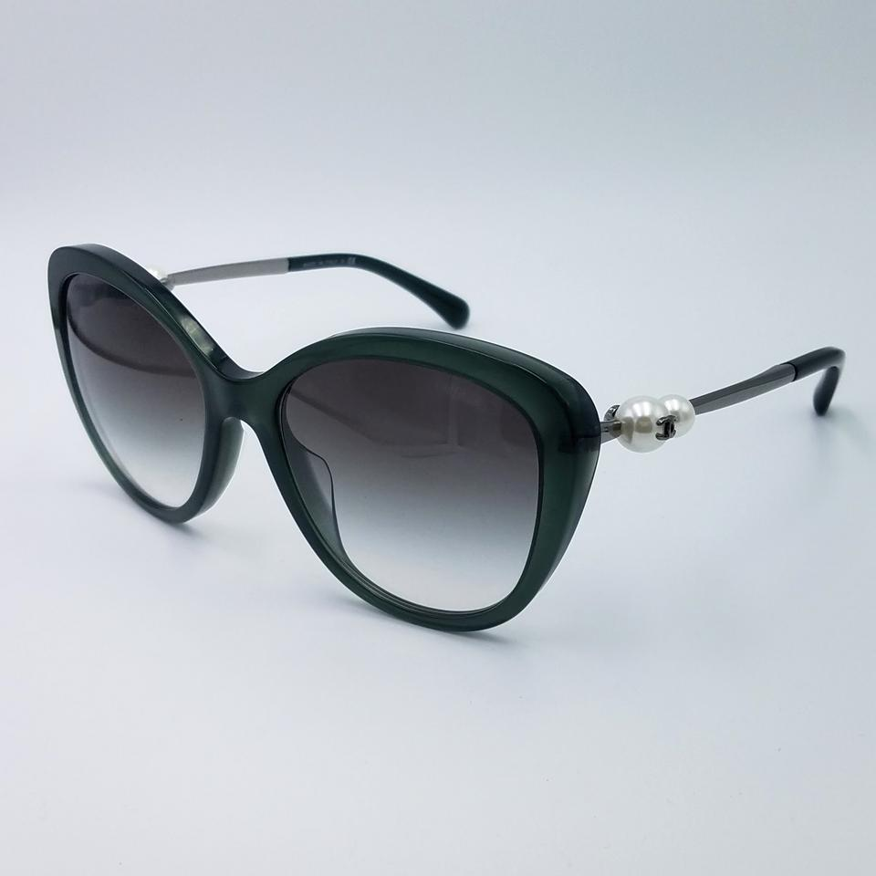 ce00efb7ccb Chanel Green Pearl 5339-h C.1549 S3 55 Sunglasses 84% off retail