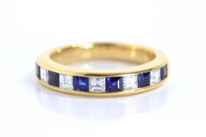 Tiffany & Co. Tiffany Sapphire and Diamond Lucida Band Ring 4