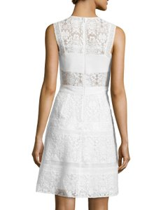 Rebecca Taylor Mixed Lace Chiffon Dress Wedding Dress