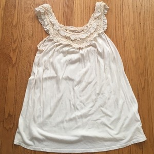 Emma & Sam Ruffle Top Cream