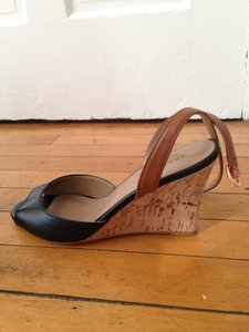 Ann Taylor Wedge Black and Tan Wedges