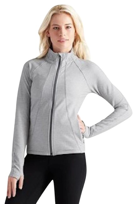 Item - Gray and White Criss Cross Hope Activewear Outerwear Size 10 (M, 31)