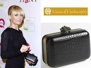 House of Harlow 1960 Black Clutch