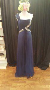 Jovani Navy With Ombre Bottom Jovani Dress