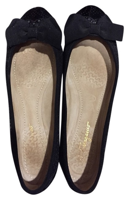 Salvatore Ferragamo Black My Pretty Sparkle Ballerina Flats Size US 7.5 Regular (M, B) Salvatore Ferragamo Black My Pretty Sparkle Ballerina Flats Size US 7.5 Regular (M, B) Image 1