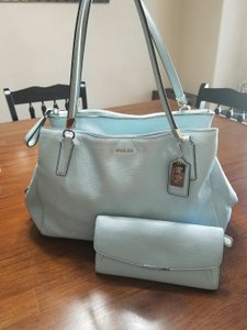 Coach Leather Set Satchel in Blue