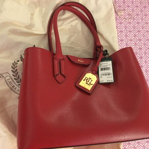 Ralph Lauren City City Tote Satchel in Red