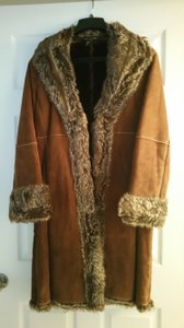 Wilsons Leather Suede Fur Coat