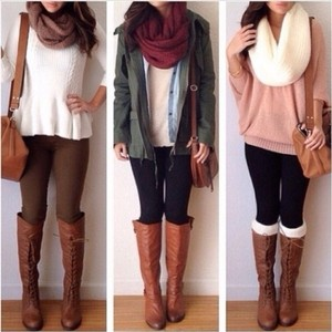 Fashion Envy Black & Brown Leggings