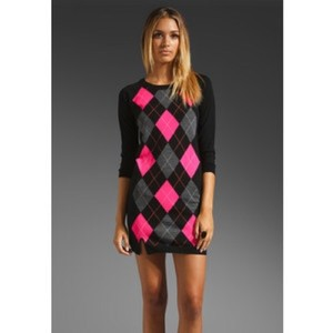Juicy Couture short dress Black/Pink on Tradesy