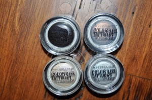 Maybelline 4 New Color Tattoo 24 Hour Eyeshadows