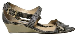 Jimmy Choo Python Wedge Beige Sandals