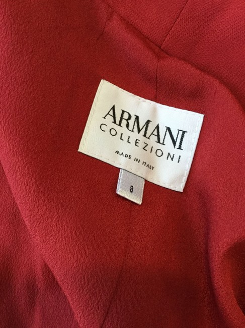 Armani Collezioni Subtle Fashionable Looks And Feels New Does Not Wrinkle Stylish Dark Red Blazer